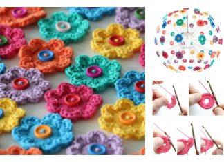 Mini Hoop Flowers FREE Crochet Pattern