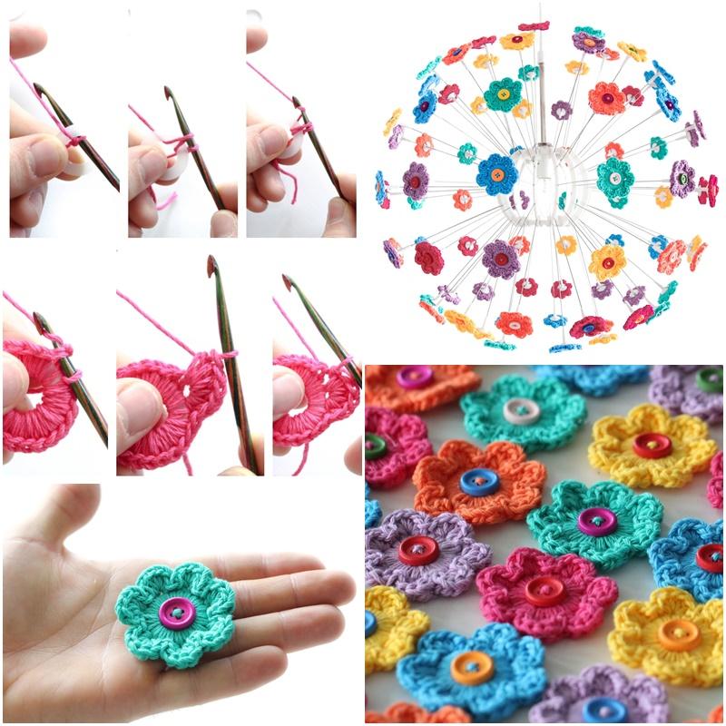 How To crochet Mini Hoop Flowers