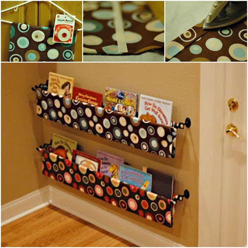 DIY Rain Gutter Book Shelves