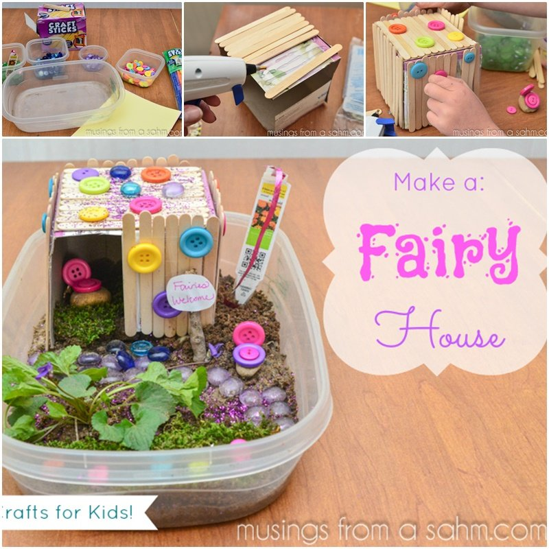 diy a fairy house craft with kids
