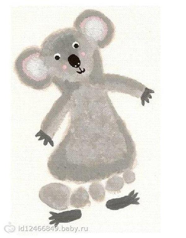 Mouse Footprint Art