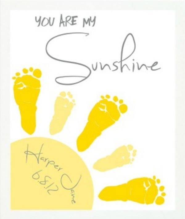 DIY Baby Footprint Wall Art