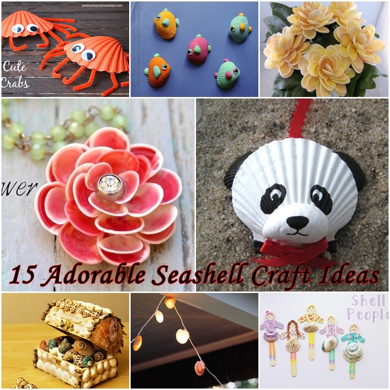 15 Adorable Seashell Craft Ideas