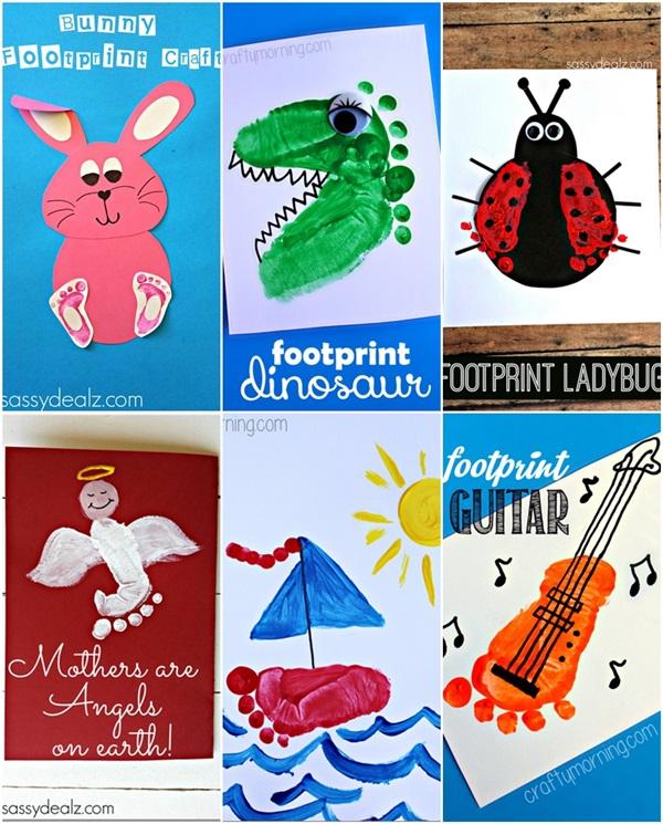 Adorable Footprint Crafts for Kids