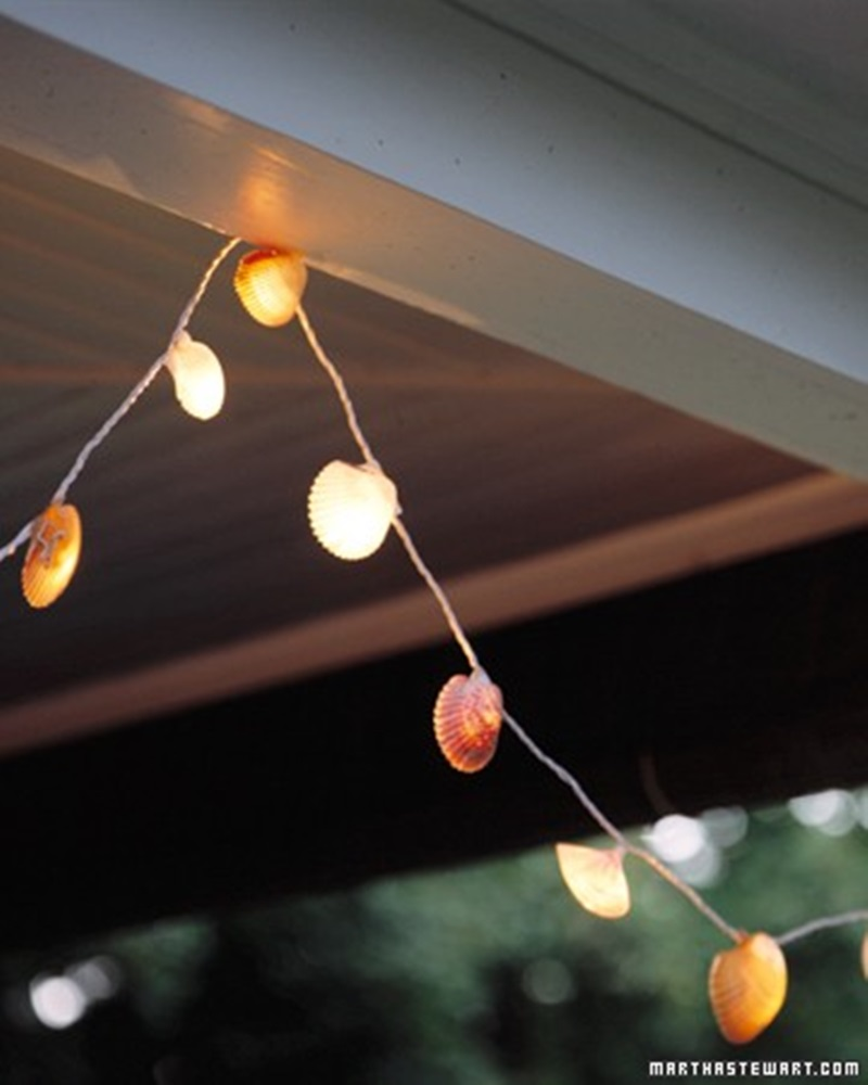 Adorable Seashell Craft Ideas lights
