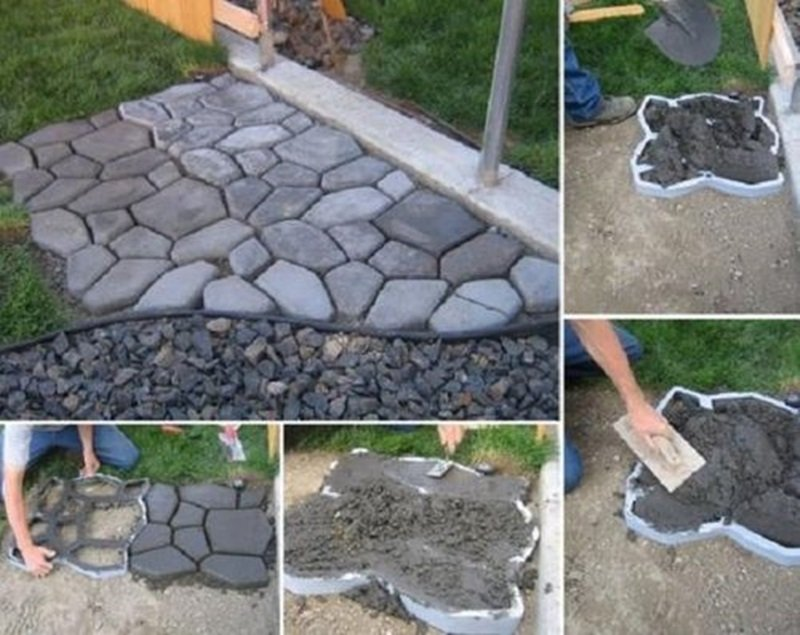 10 cool diy garden path ideas for Easy garden path ideas