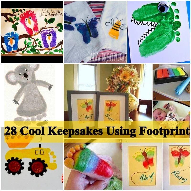 Cool Keepsakes Using Footprint Art DIY Ideas and Projects