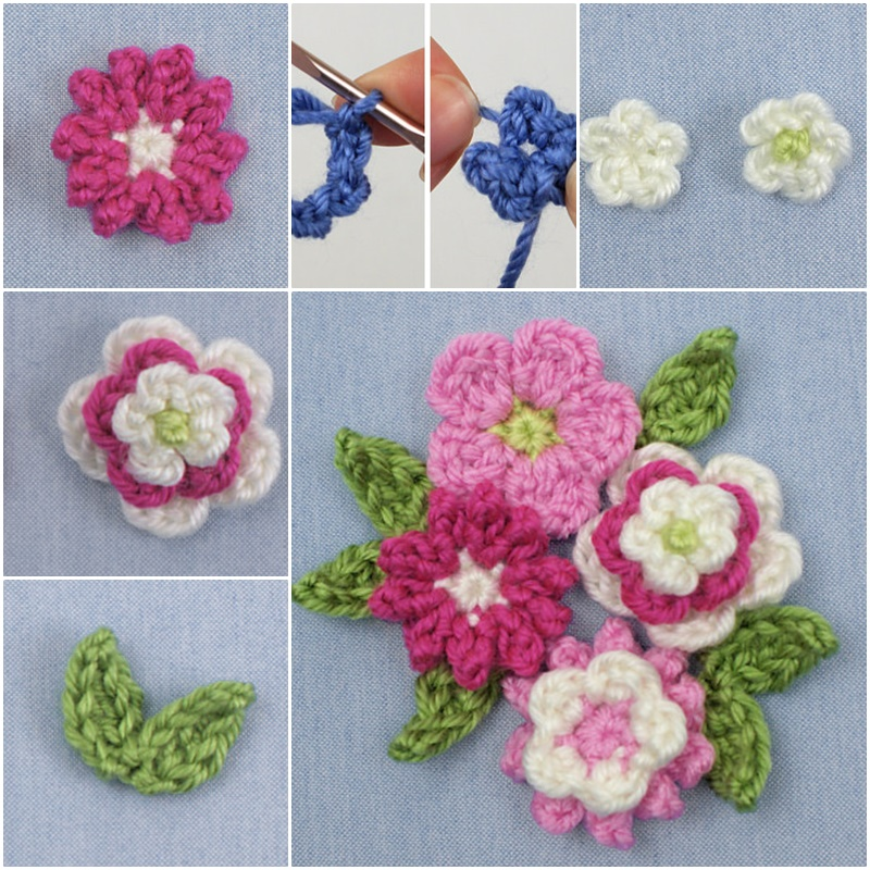 Crochet Flower Bouquet Patterns : Crochet Posy Blossoms with Free Pattern