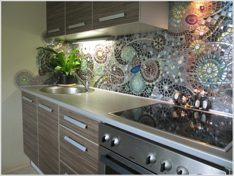 DIY Awesome Mosaic Back splash for Your Kitchen-1