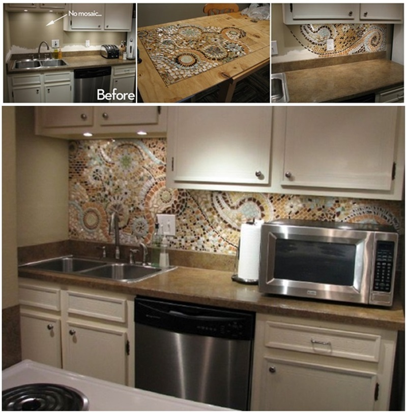 DIY Awesome Mosaic Back splash for Your Kitchen-2