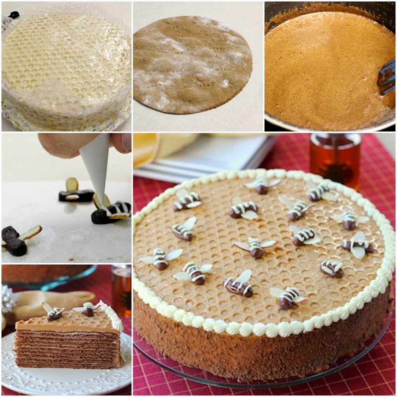 DIY Cake with Bubble Wrap Decoration