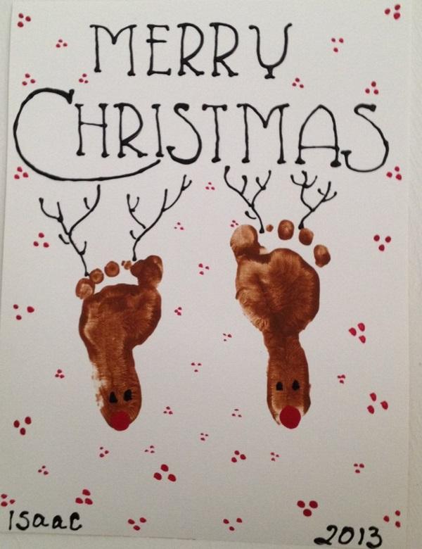 DIY Reindeer Footprint -foot art craft