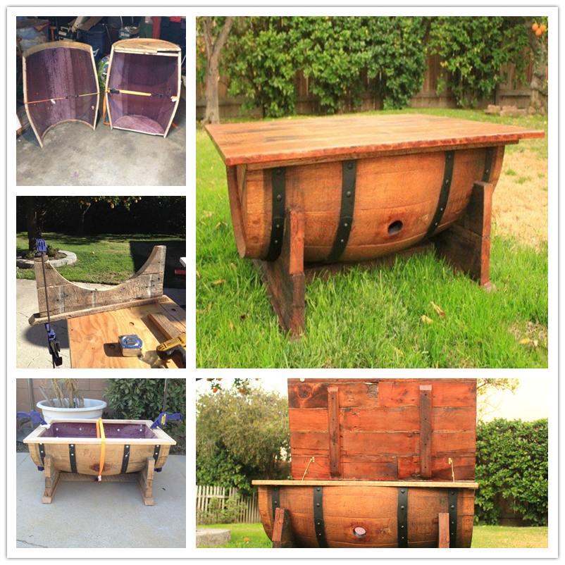 DIY a Table from Old Whiskey Barrel-1