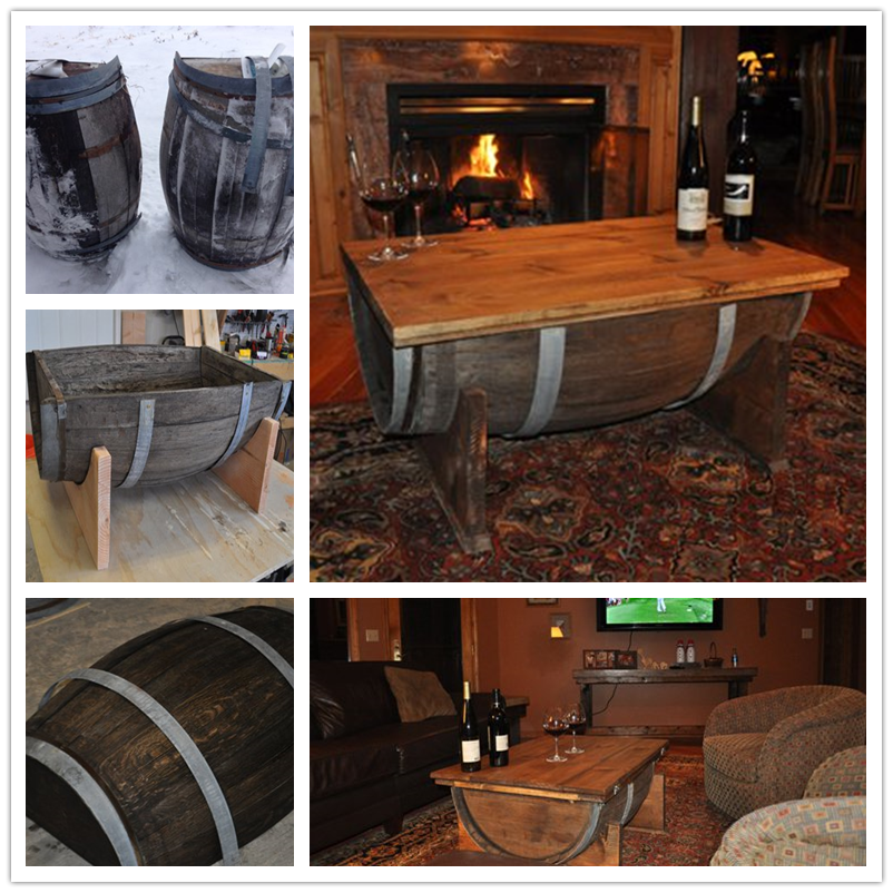 DIY a Table from Old Whiskey Barrel-2
