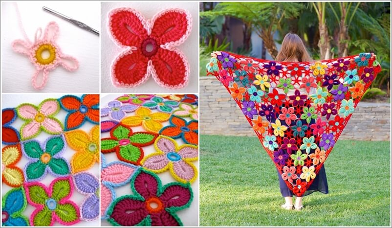 How to Crochet Hawaiian Flowers #crochet # hawaiian #flower # free #pattern
