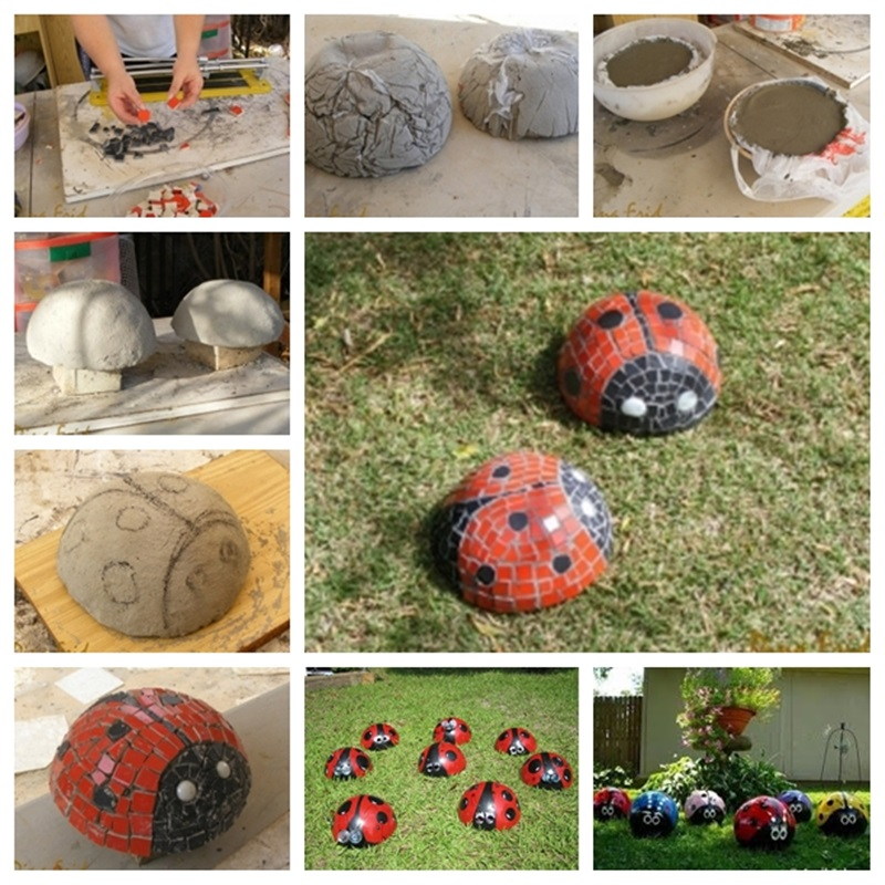 Ladybug Mosaic Garden craft