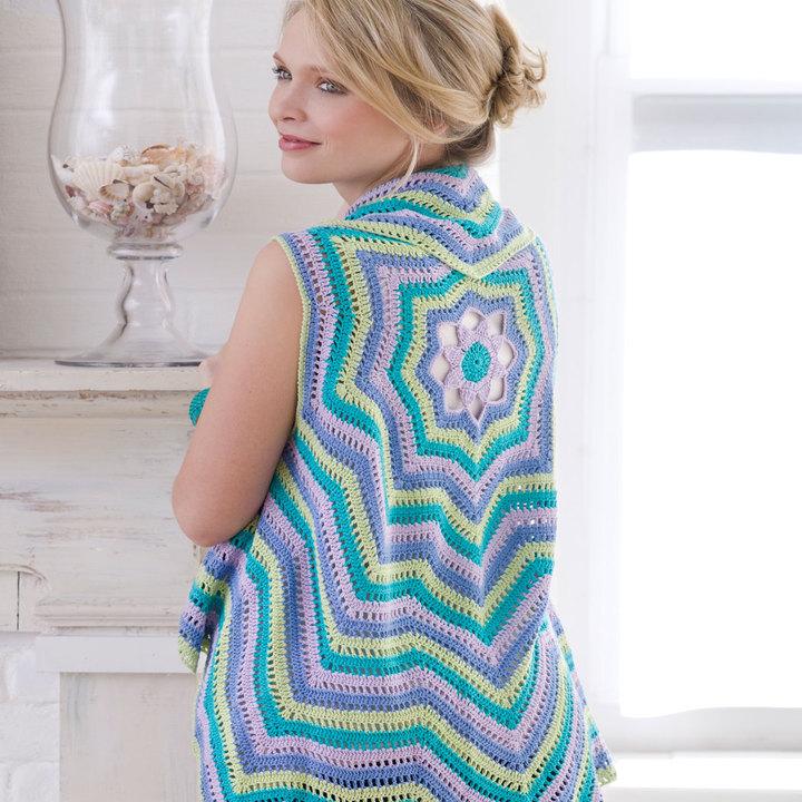 Rippling Vest Free Crochet Pattern Cool Creativities