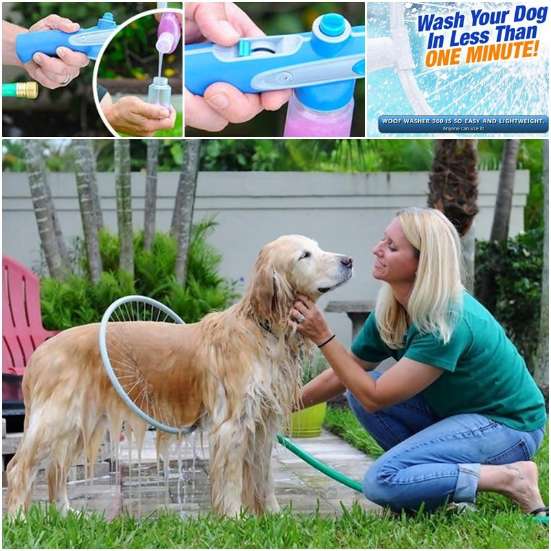 Woof Washer 360 Cleans Your Dog In Under A Minute