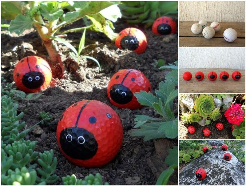 diy Golf Ball Ladybugs craft