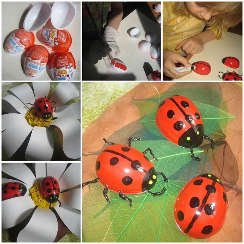 Поделки в садик насекомых