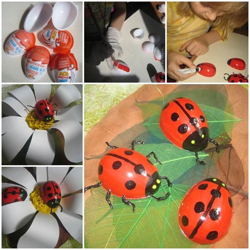 easter egg ladybug craft