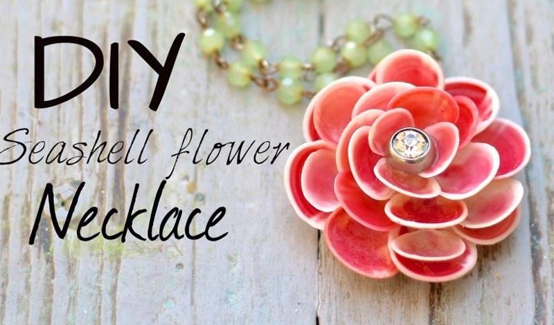 seashell flower pendant