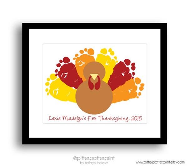turkey footprint art craft