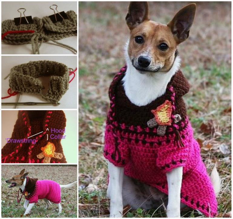 Crochet Dog Hoodie Sweater Free Pattern Cool Creativities