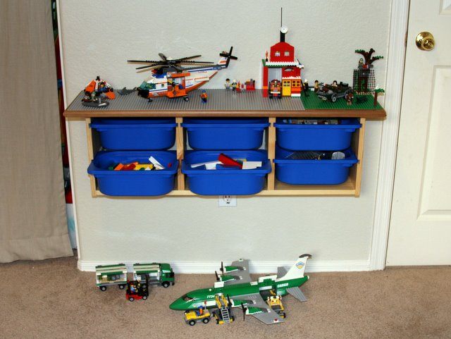 Diy lego storage and play table for Diy storage furniture