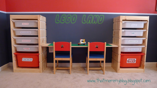 DIY Lego Storage and Play Table from Other Furniture