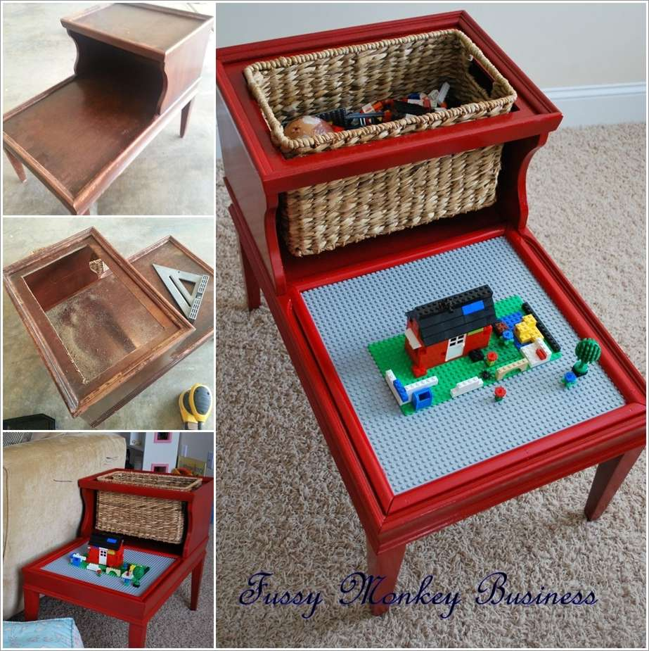 diy lego storage and play table. Black Bedroom Furniture Sets. Home Design Ideas