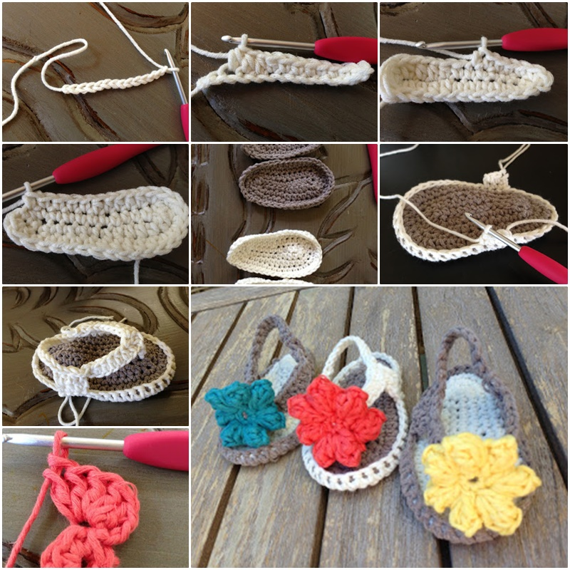 DIY Simple Crochet Baby Flip Flop Sandals with Free Pattern