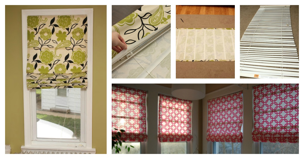 Easy Diy No Sew Roman Shades Out Of Mini Blinds