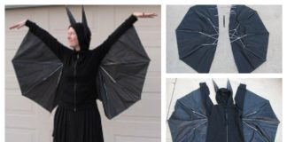 How to Transform Black Umbrella to Halloween DIY Costume