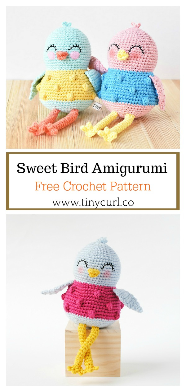 Sweet Bird Amigurumi Free Crochet Pattern