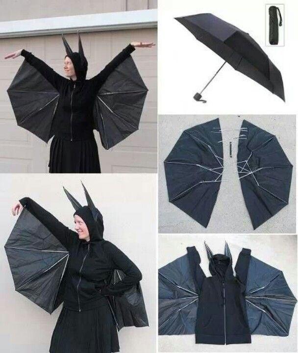 How to Transform Black Umbrella to Halloween DIY Costume