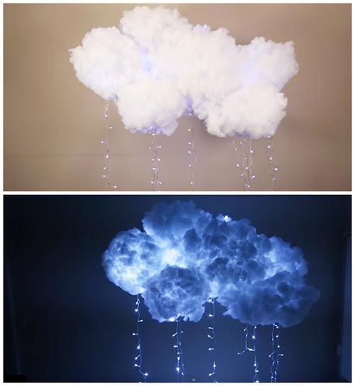 Christmas house decorations - Diy Hanging Cloud Light