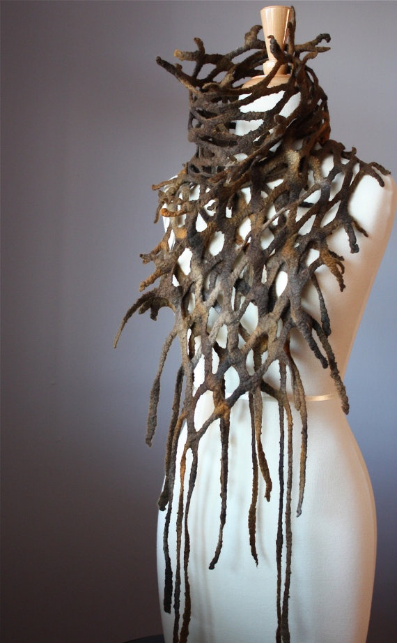 20 Cool Creativity And Funny Winter Scarf Designs Roots and Branches Scarf