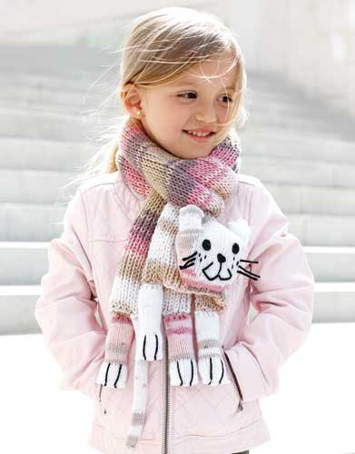 20 Cool Creativity And Funny Winter Scarf Designs pink cat scarf