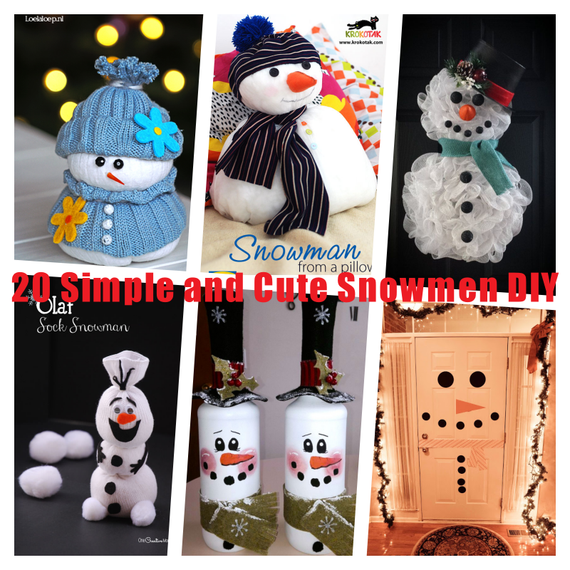 Create cute as a button christmas decor and gifts - 20 Simple And Cute Snowmen Diy