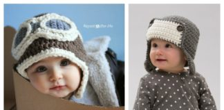Baby Aviator Hat Free Crochet Pattern
