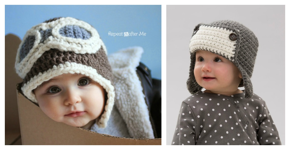 Crochet Aviator Hat With Free Pattern