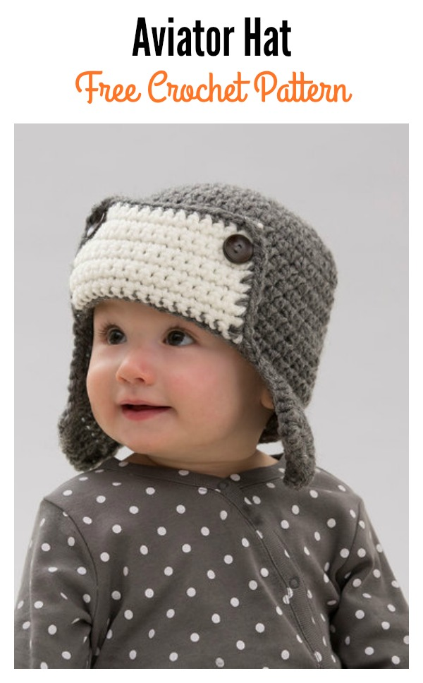 Baby Aviator Hat Free Crochet Pattern