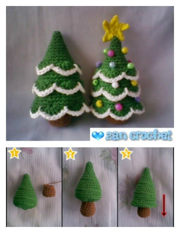 Free Crochet Granny Square Christmas Tree Pattern : DIY Crocheted Christmas Tree with Free Pattern