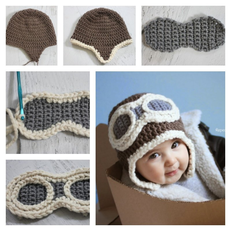 Free Crochet Pattern Link Hat : Crochet Aviator Hat with Free Pattern