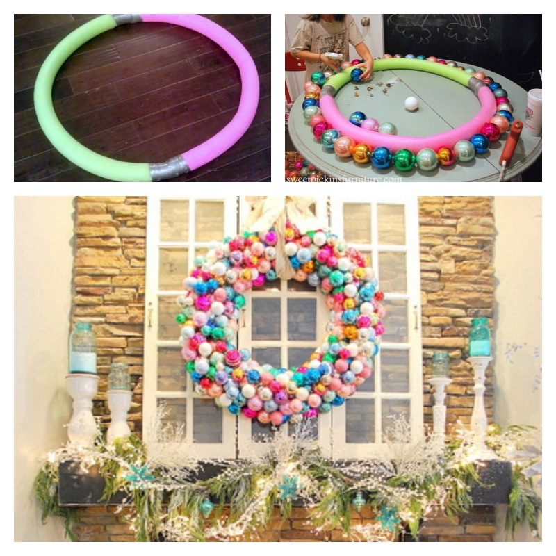 Diy Giant Outdoor Wreath With Pool Noodles