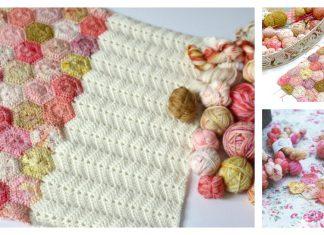 Easy Hexagon Blanket Free Crochet Pattern