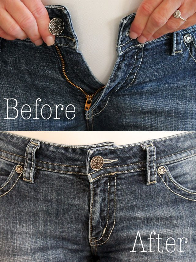 how to fix jean waist tight