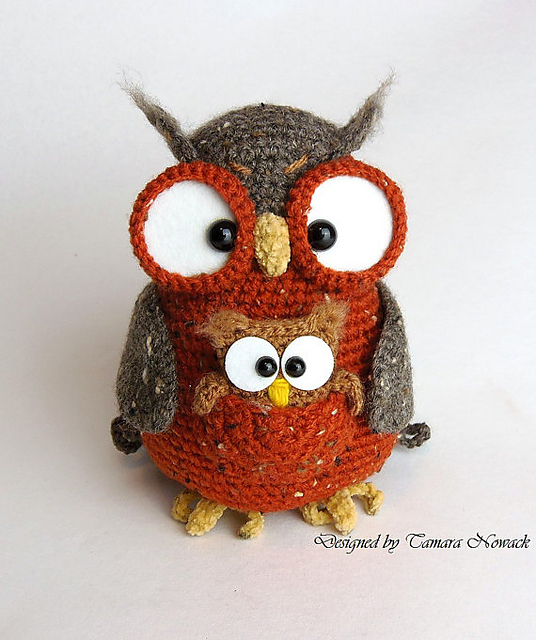 Crochet Patterns Owls : Owl Crochet Pattern by ?Tamara Nowack - Available Ravelry.