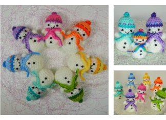 Teeny-Tiny Snowman Free Crochet Pattern